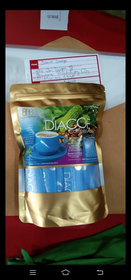 DIACOF Healthy Coffee Mix