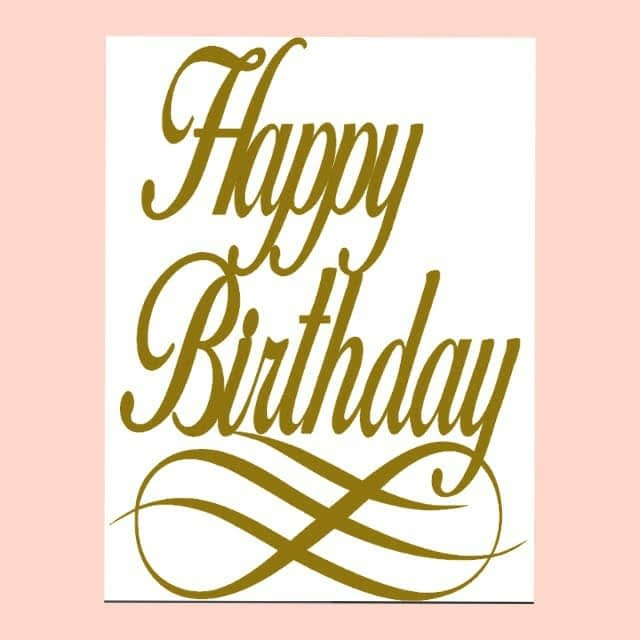 A4 size Happy Birthday Glittered Cardstock Cake Topper
