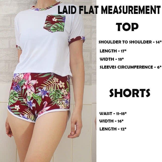 Cailee Top and shorts Terno (small to large fitting)