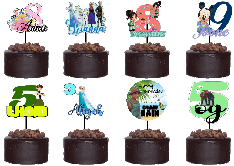 Personalized Vinyl Cake Topper